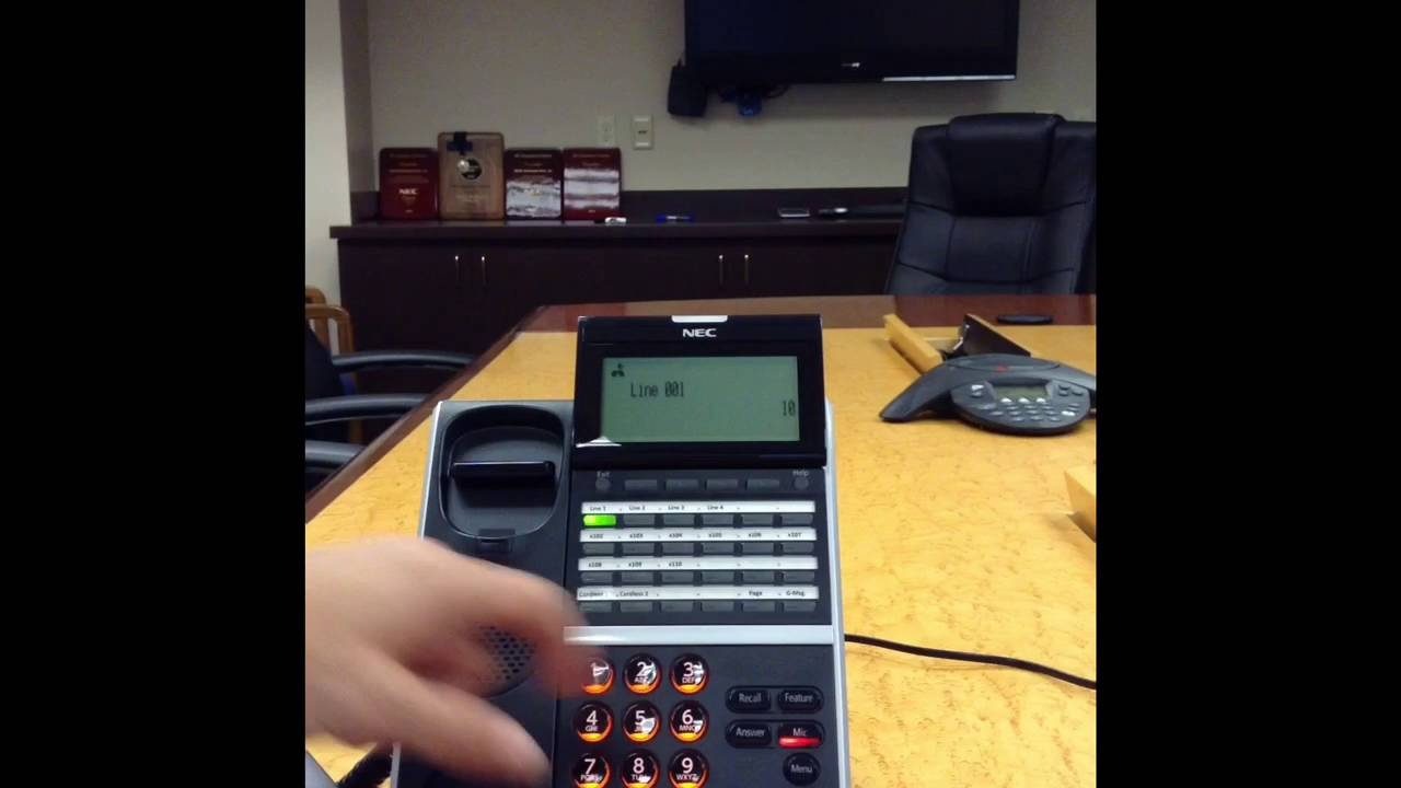 NEC SV9100 and DT series phone training