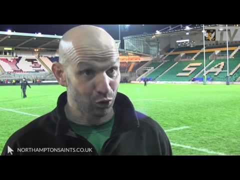 Jim Mallinder Reaction to Saints victory over Scarlets | Rugby Video Highlights