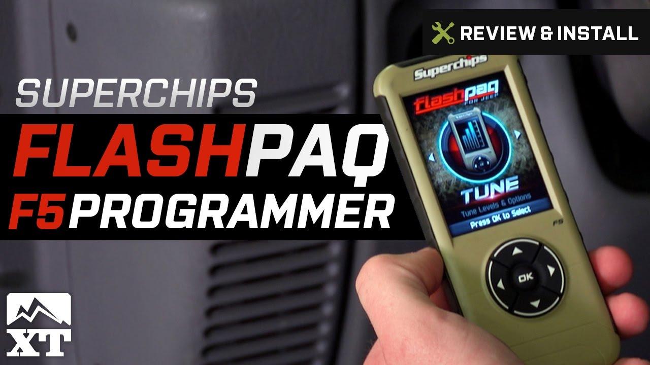 Superchips Flashpaq F5 Programmer (98-06 4 0L Jeep Wrangler TJ)