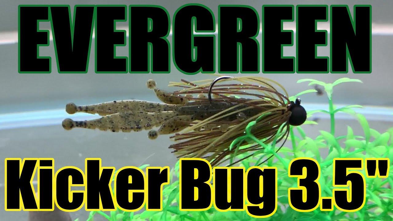 """エバーグリーン キッカーバグ3.5"""" 水中アクション映像/EVERGREEN Kicker Bug 3.5"""" underwater action movie"""