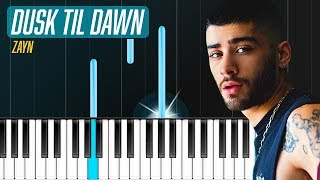 "Video ZAYN - ""Dusk Till Dawn"" ft Sia Piano Tutorial - Chords - How To Play - Cover download MP3, 3GP, MP4, WEBM, AVI, FLV Juli 2018"