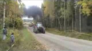 tractors Zetor race Crash and Burn in flames