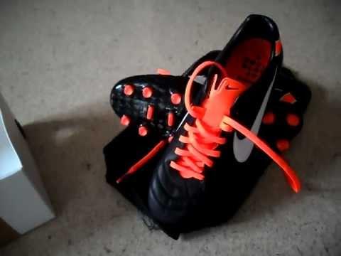 separation shoes a7d3e a5e5a UNBOXING Nike Tiempo Legend IV Elite FG Black White Orange  THIRD ON  YOUTUBE