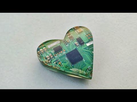 DIY Circuit Board And Epoxy Resin Heart ❤️ | Resin Love | Love