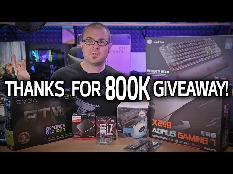 Paul's Somewhat Poorly Planned 800,000 Subscriber Thank-You Giveaway!