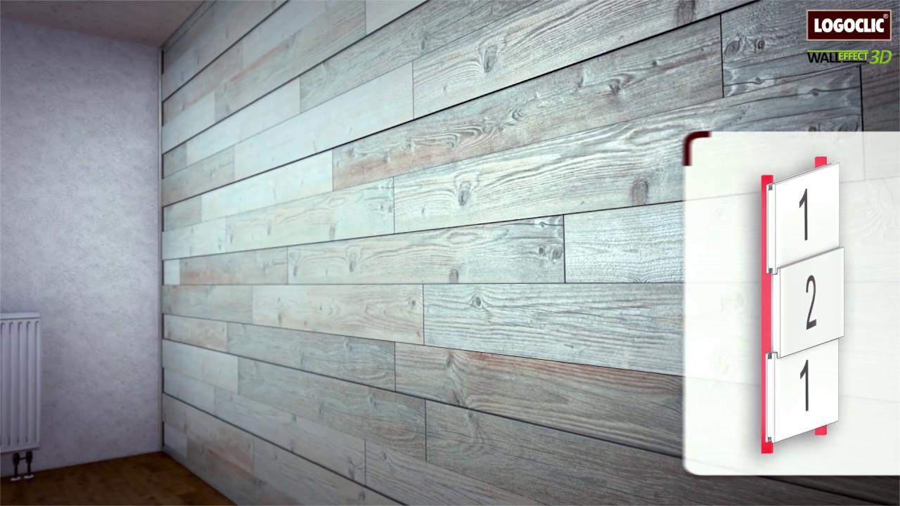 Logoclic Wall Effect 3d Wand Und Deckenpaneele Youtube