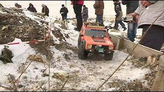 Зимнюю трассу опробовали пилоты автомоделей