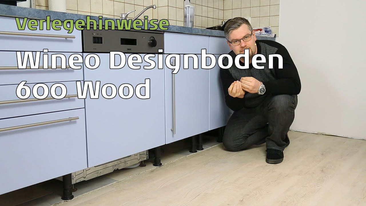 wineo 600 vinylboden in der k che verlegen youtube. Black Bedroom Furniture Sets. Home Design Ideas
