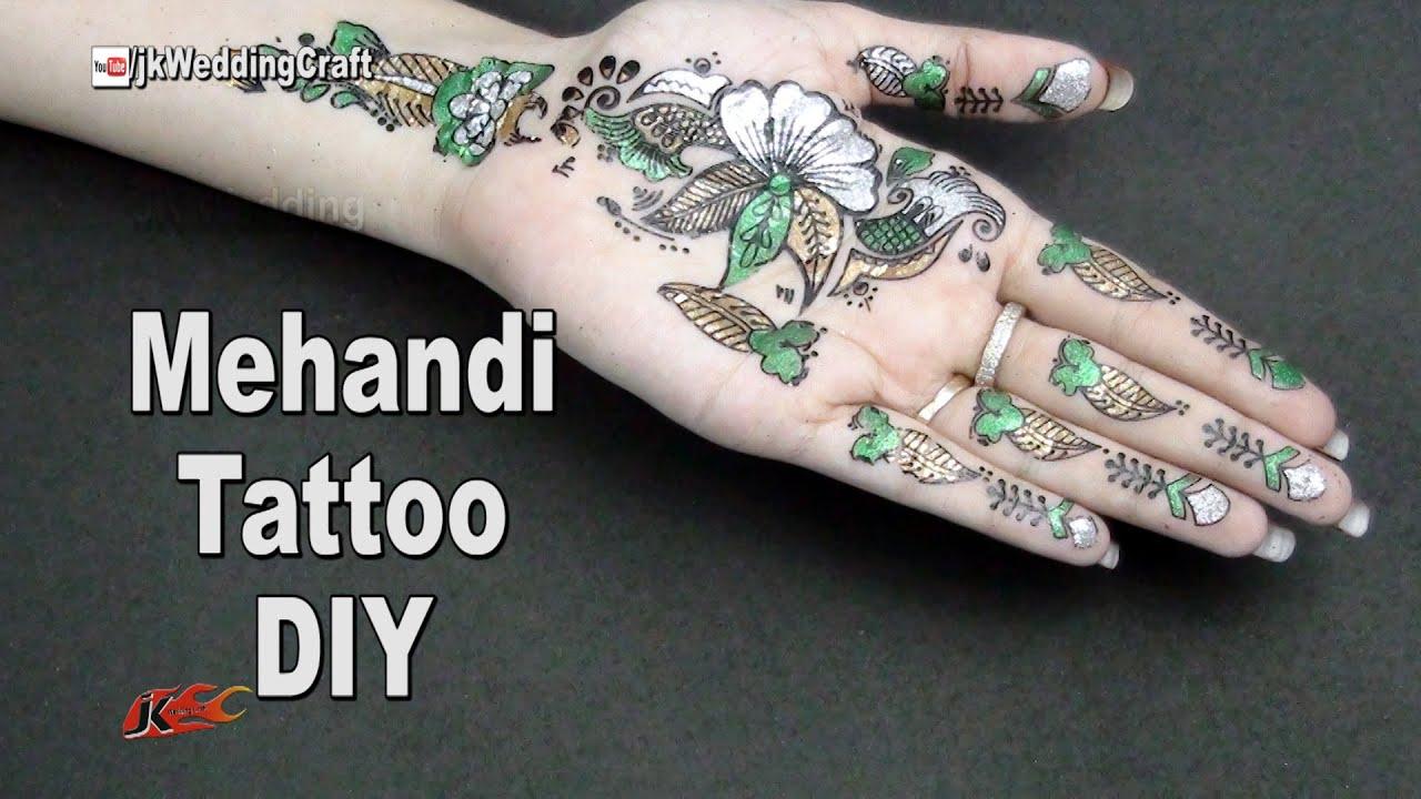 Henna Mehndi Stickers : Mehandi stickers temporary tattoos tutorial demo jk wedding