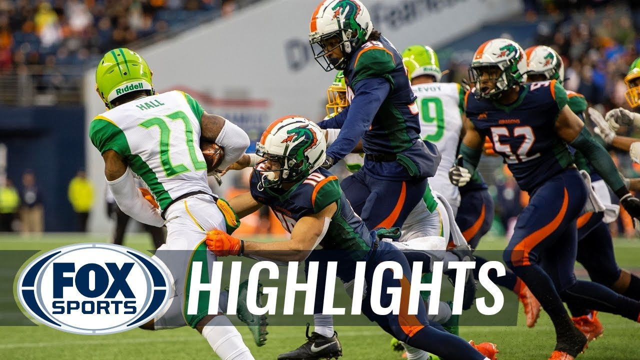 Dragons storm from behind to burn Vipers, 17-9 | 2020 XFL HIGHLIGHTS