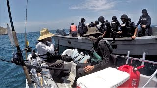 Stopped by FULLY ARMED Mexican Police while Fishing in Mexican Waters