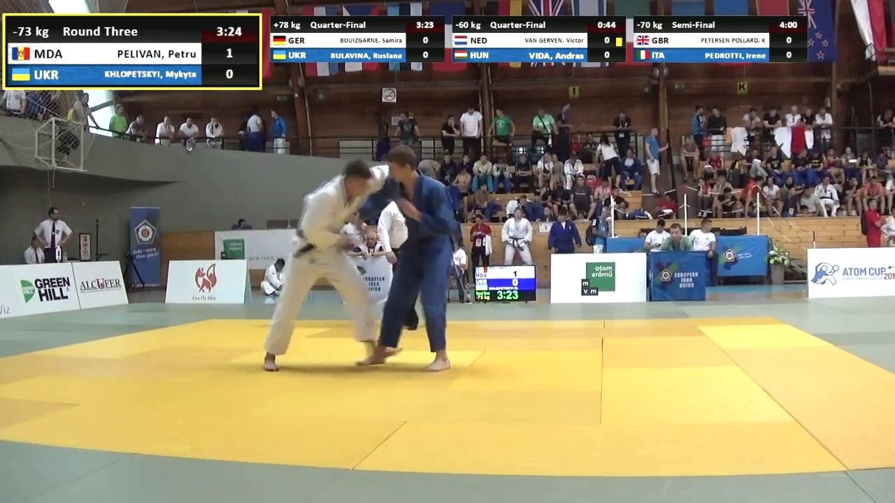 Judo MD 2019 * PELIVAN , MDA - KHLOPETSKYI , UKR * 1/8 Junior European Judo  Cup Paks, HUN