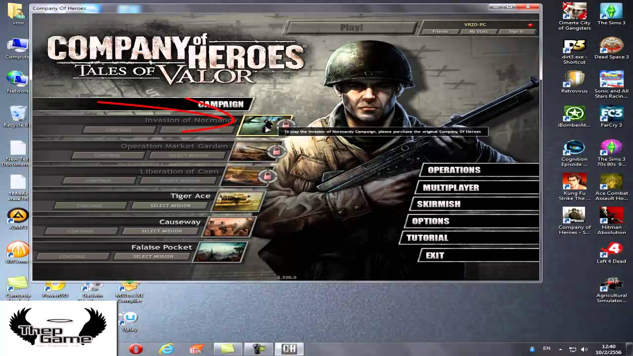 company of heroes opposing fronts] - LOC - mission 1 - part 1 .