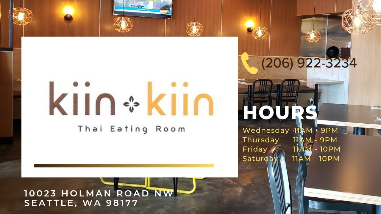 Thai Food Restaurant in Seattle | Kiin Kiin Thai Eating Room