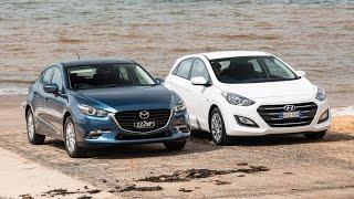 2017 Mazda3 vs Hyundai i30 0 100km h engine sound comparison