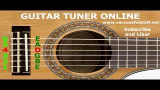 GUITAR TUNER ONLINE 2.0 for tuning acoustic guitar in standard strings EBGDAE, tune interactive