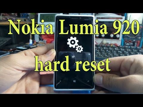 Nokia Lumia 920 hard reset