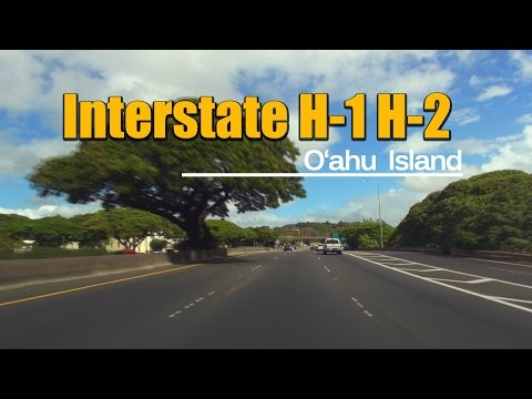 Interstate H-1 to H-2 - Drive from Grand Waikikian to Dole Plantation, Oahu Hawaii