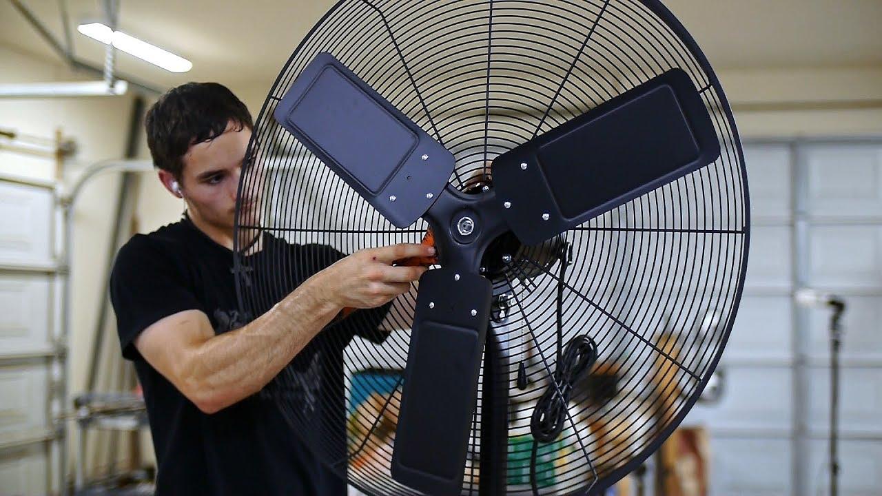 30 in pedestal high velocity shop fan
