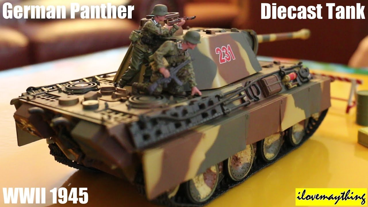 Toy Tank for Kids Unboxing a 1 32 Scale German Panther Diecast
