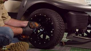 Front Shock Replacement on a Club Car Precedent Golf Cart How-To