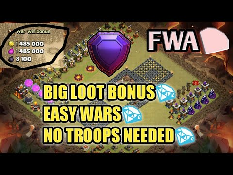 FWA-STRATEGY , BASE , ATTACK , PROFIT | clash of clans | clashing with sk