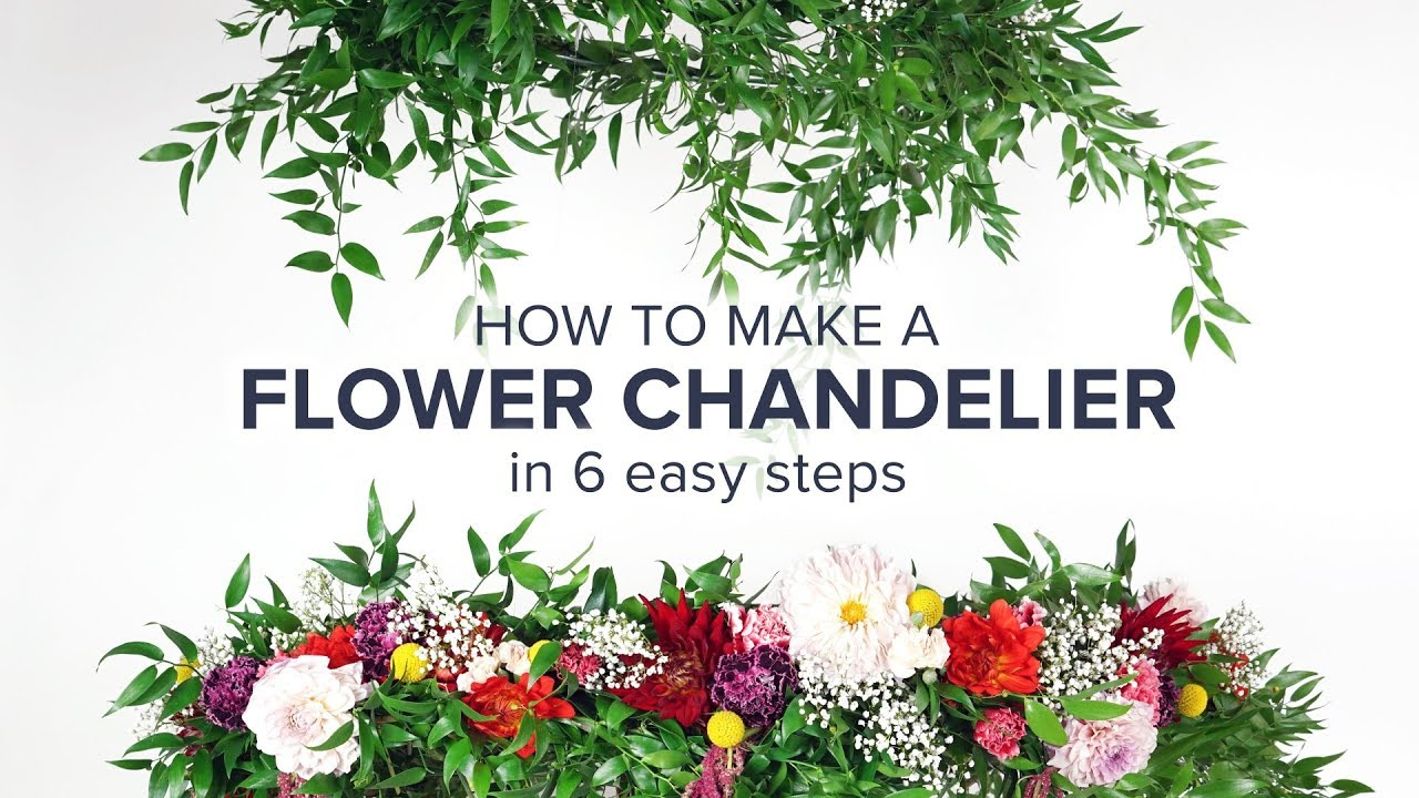 Flower chandelier diy for your next party youtube flower chandelier diy for your next party aloadofball Image collections
