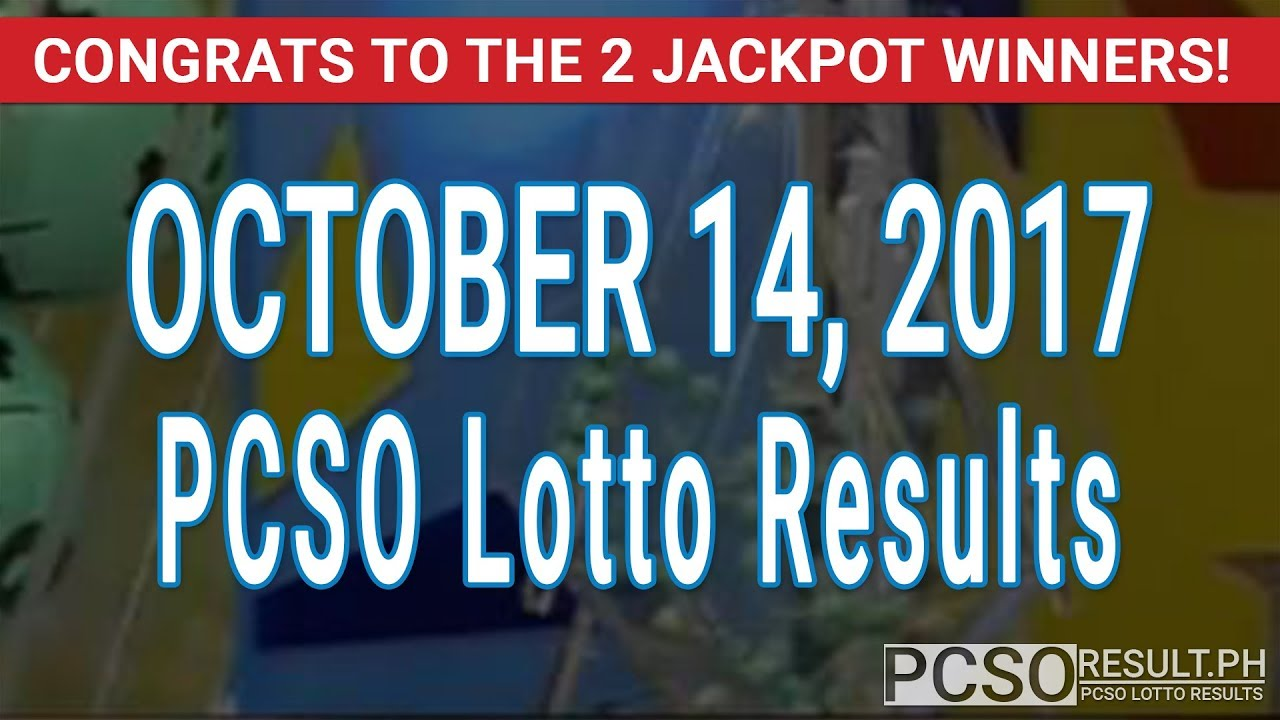 PCSO Lotto Results Today October 14, 2017 (6/55, 6/42, 6D, Swertres & EZ2) - YouTube