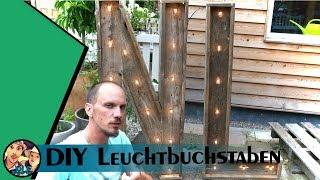 DIY Leuchtbuchstaben für den Garten