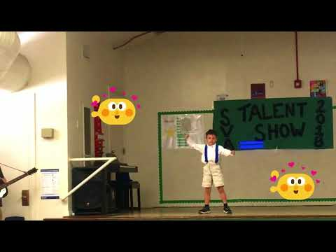 Ethan Brenner at the Sycamore Valley Academy Talent Show, A Billion Hits by Austin and Ally.