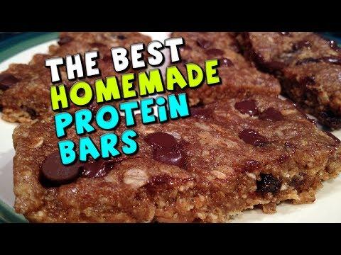 The BEST Homemade Protein Bars Recipe! (18.5g Protein/4g Fiber)