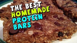 The Best Homemade Protein Bars Recipe! (18.5g Protein/4g Fiber)