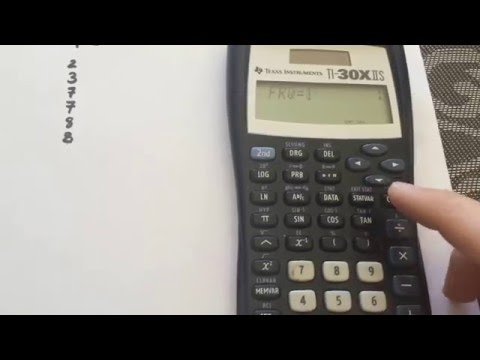 Standard Deviation, Mean And Other Statistics Using Texas Instrument TI-30IIS