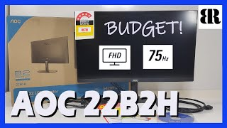 AOC 22B2H LCD Monitor Budget 75 Hz Monitor Unboxing Screen Test