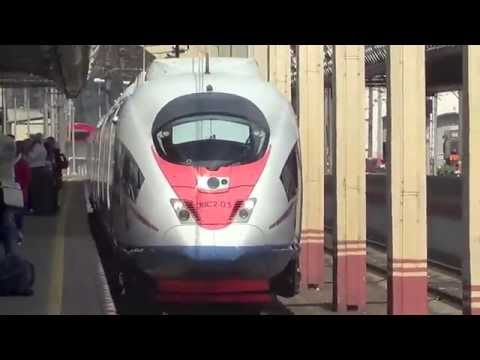 High Speed Train Ride From Moscow To St.Petersburg