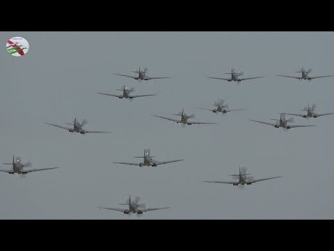 Duxford Airshow 13 Spitfire Flypast September 24th 2017  - AIRSHOW WORLD