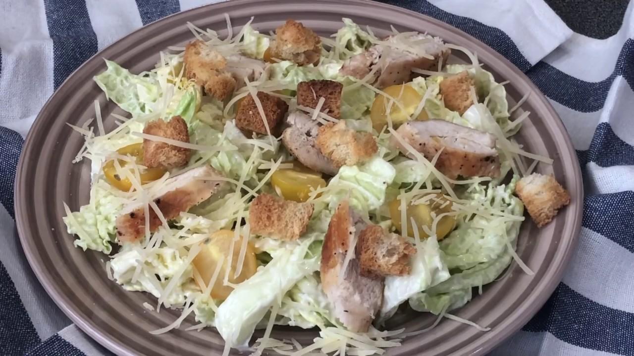Рецепт салата цезарь с пекинской капустой фото