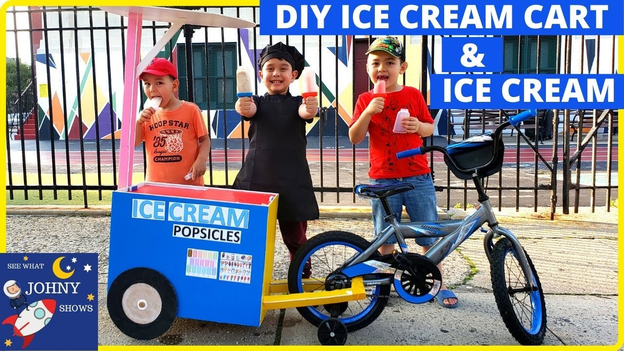 DIY Ice Cream Cart & Easy DIY Homemade Ice Cream