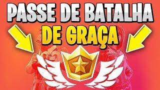COMO CONSEGUIR O PASSE DE BATALHA DE GRAÇA - Fortnite Battle Royale