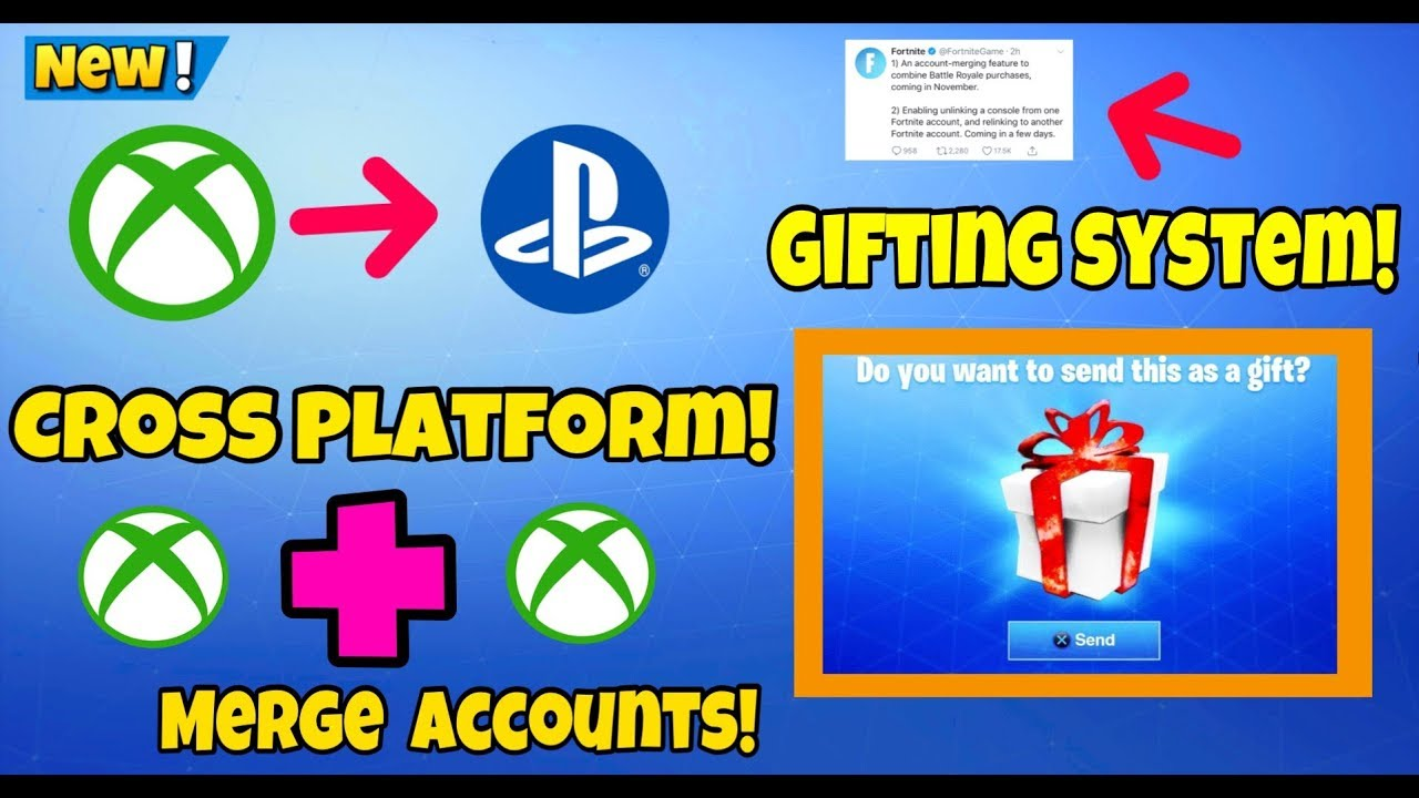 How To Cross Platform Ps4 And Xbox One | Merge Fortnite ...