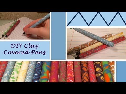 DIY Clay Covered Pens (Great Gift Idea)