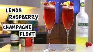 Lemon Raspberry Champagne Float