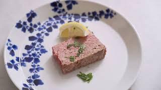 レバーとひき肉のテリーヌ돼지고기테린 햄처럼사용하셔도좋고 …
