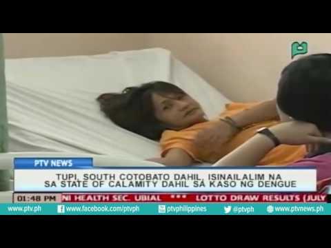 Tupi, South Cotabato isinailalim na sa State of Calamity dahil sa kaso ng dengue