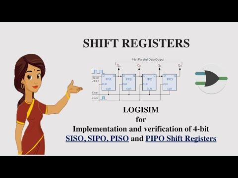Virtual Lab - Shift Registers using Logisim