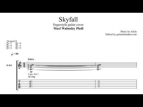 Adele - Skyfall TAB - fingerstyle guitar tab - PDF - Guitar Pro ...