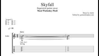 Adele - Skyfall TAB - fingerstyle guitar tab - PDF - Guitar Pro