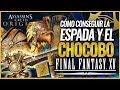 Assassin's Creed Origins   SECRETO   Consigue el CHOCOBO, ESPADA de Noctis y Escudo Final Fantasy XV