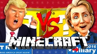 Minecraft | TRUMP VS CLINTON LUCKY BLOCK CHALLENGE | BUILD A WALL!! thumbnail