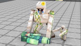 Monster School : Poor Baby Iron Golem - Sad Story - Minecraft Animation
